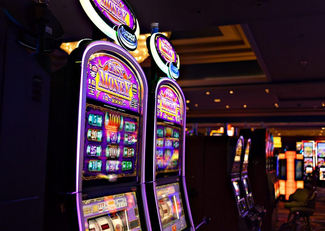 Slot machines in a casino
